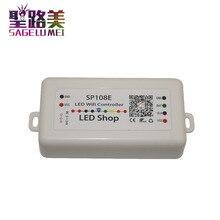 DC 5V 12V 24V SP108E LED WIFI denetleyici SPI piksel denetleyicisi telefon APP iOS Android için WS2811 WS2812 WS2813 LED şerit ışık