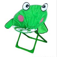 Lovely Frog Style Child Folding Saucer Moon Chair For Indoor And Outdoor Chairs
