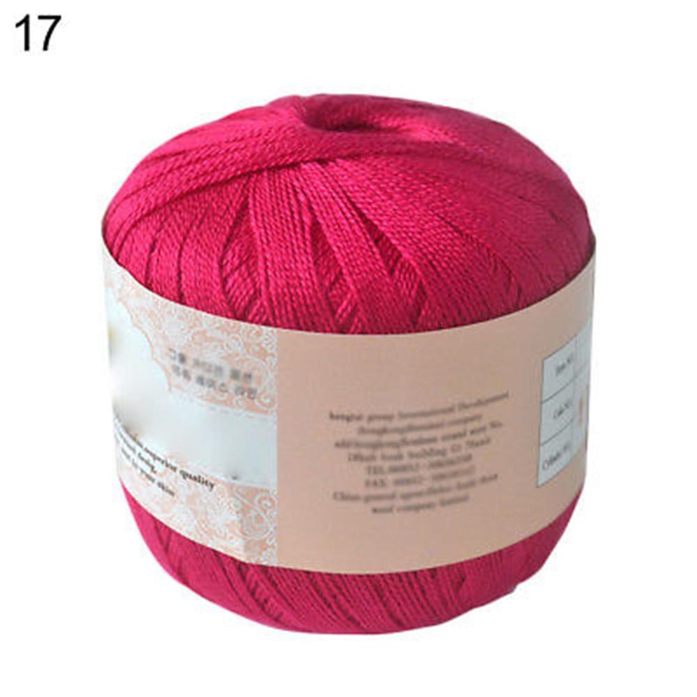 1 шт. DIY мерсеризованный хлопок шнур нить ПРЯЖА для вышивки крючком вязание кружева Ювелирные Изделия швейные инструменты аксессуары - Цвет: Rose