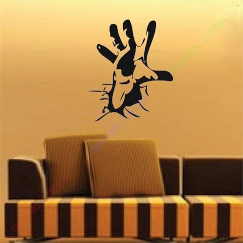 Aliexpresscom Buy Happy Halloween Personalized Hand Cool Living - Vinyl wall decals home party
