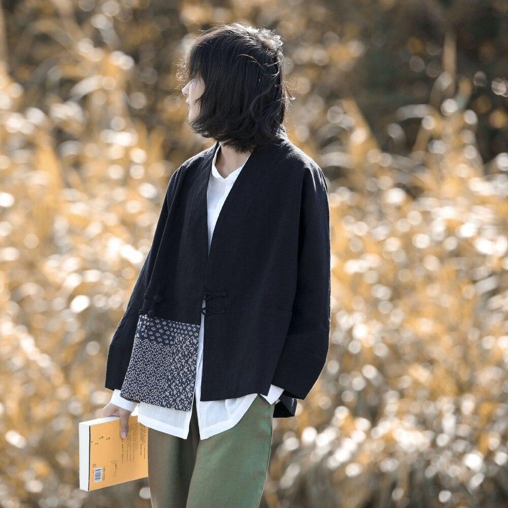 Style chinois vêtements femmes Hanfu 2019 printemps été rétro Vintage chemise ethnique thé Zen Blouse dames chinois hauts AA4476