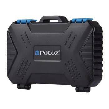 PULUZ Card Reader+22 in 1 Waterproof Memory /SD Card Case Storage Box for 1Standard SIM+2Micro-SIM+2Nano-SIM+7SD+6TF+1CARD PIN 1