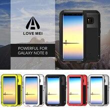 Pour Samsung Galaxy Note 8 étui Love Mei puissant antichoc en aluminium boîtier en métal pour Samsung Note 8 coques de téléphone