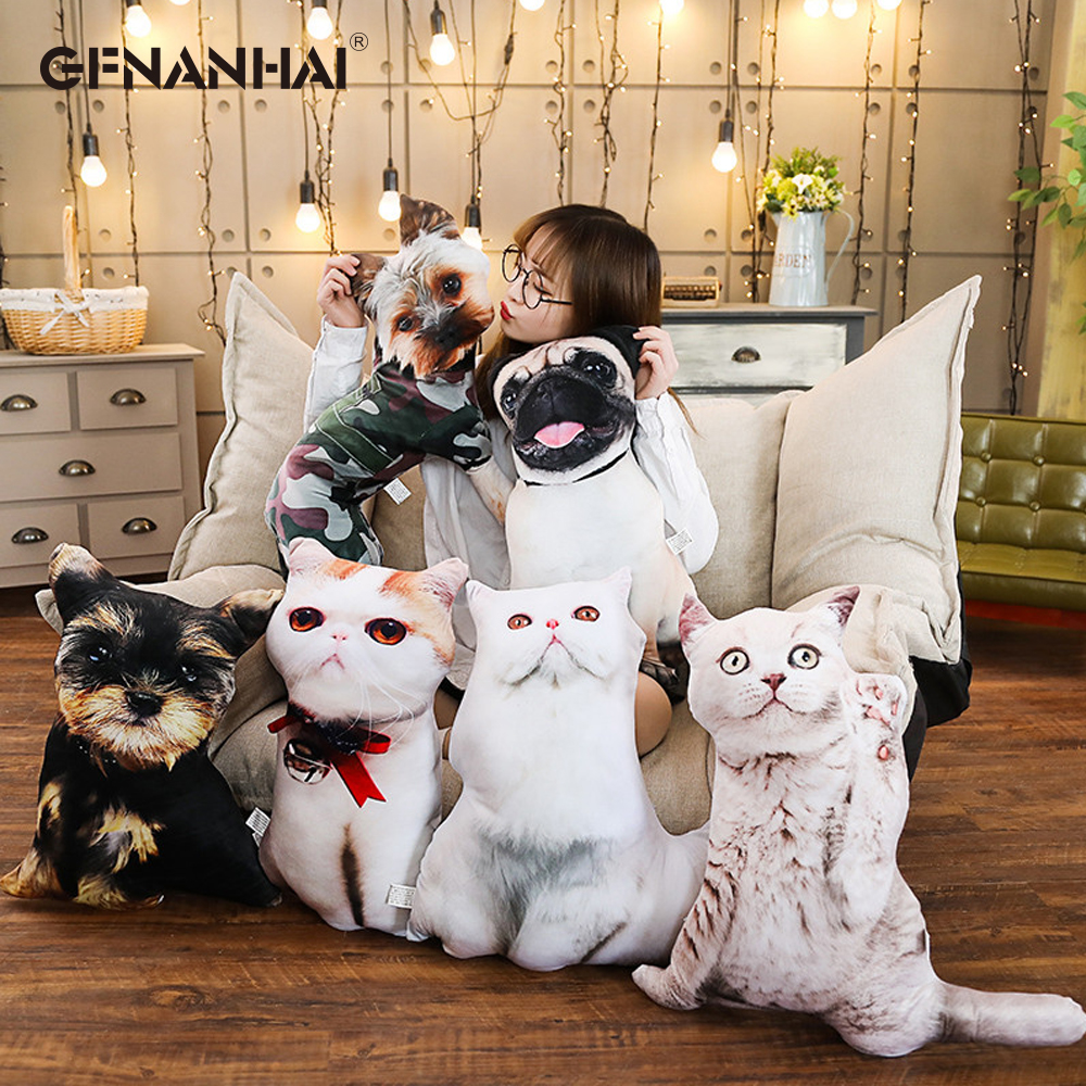 1pc 50cm Cute Shar Pei Dog Persian Cat Plush Pillows Stuffed Simulation Animal Cats Dog Toys Sofa Cushion Dolls Children Toys