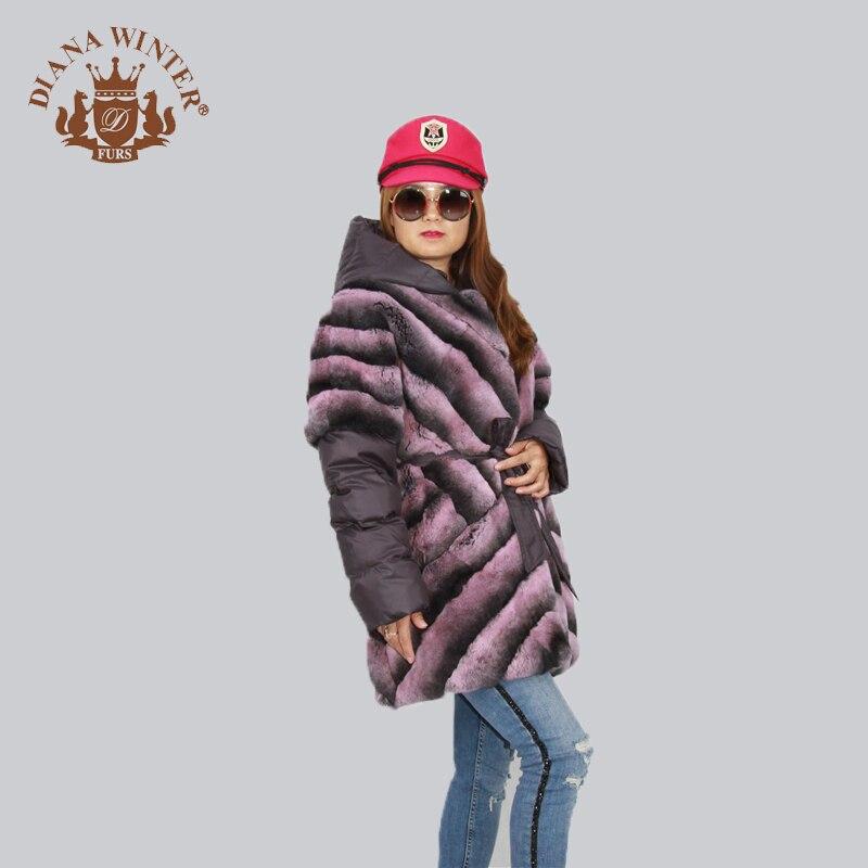 Royal lavande Diana D'hiver rose Clair or Fourrure 2018 Manteau Mode Lapin gris De Bleu 8UAa8qT