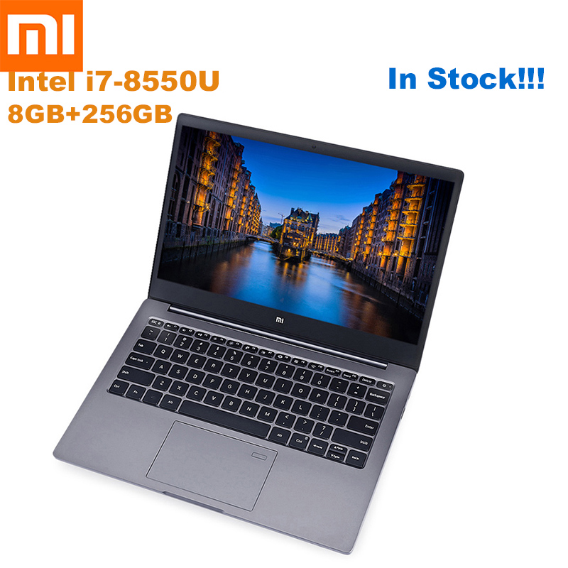 Xiao mi mi Portable Air 13.3 Ultra Mince Windows 10 Intel Core I5-8250U/I7-8550U Quad Core 8 GB + 256 GB D'empreintes Digitales Double WiFi Ordinateur Portable