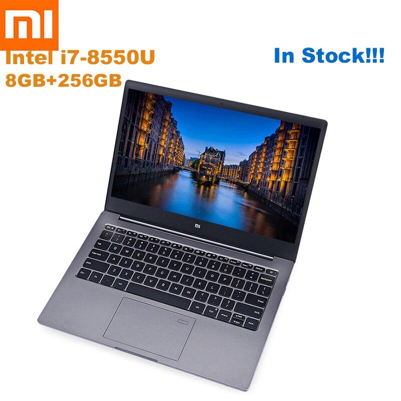 Xiaomi mi Notebook Air 13,3 Ultra delgado Windows Intel Core 10 I5-8250U/I7-8550U Quad Core 8 GB + 256GB huella digital Dual WiFi portátil