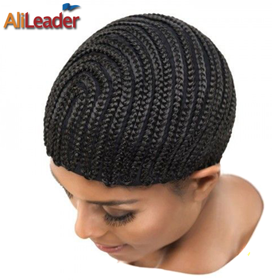 Wholesale Cornrow Wig Cap For Making Wigs Adjustable Braided Wig Cap For Weave 5pcs Black Wig Hair Net Quality Wig Making Tools
