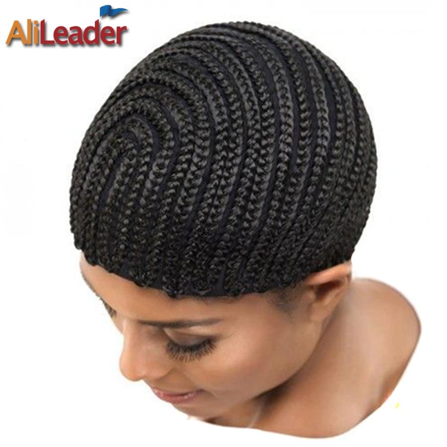 Wholesale 5PCS/Lot Cornrow Wig Cap For Making Wigs Elastic Weaving Braided Wig Cap Black Hair Net Quality Wig Making