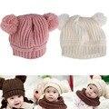 2016 New Autumn Winter Baby Hat Bonnet Style Kid Crochet Cap Lovely Infant's Headwear Ear Protection Cap Winter Woolen Hat
