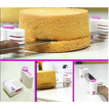 Plastic 2PCS Kitchen DIY Cake Bread Cutter Leveler Slicer Cutting Fixator Tool 5 Layers Tools