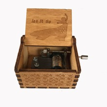 Beauty and Beast Black Star Wars Music Box Game of Thrones Castle In The Sky Hand Cranked Wood Music Box New Year Gift