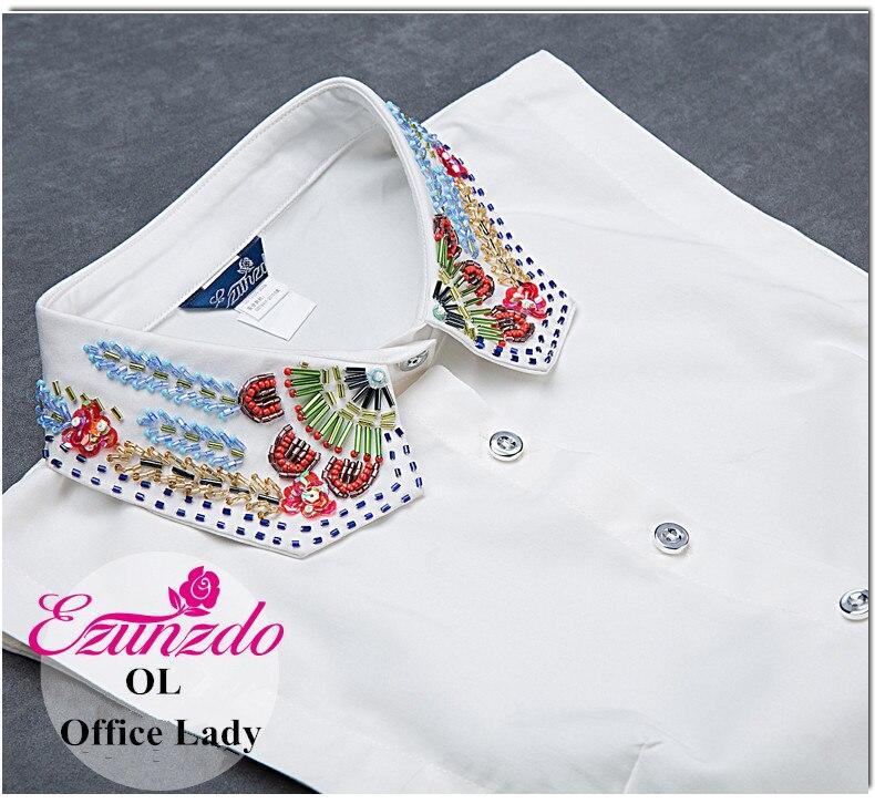 ᗐYizunzhiduo tie mujeres camisas falso collares negro y blanco ...