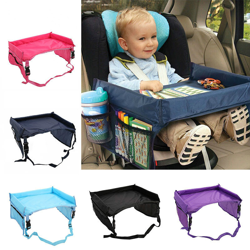 Waterproof Table Car Seat Tray Storage Kids Toys Infant Stroller Holder For Children 4 Colors