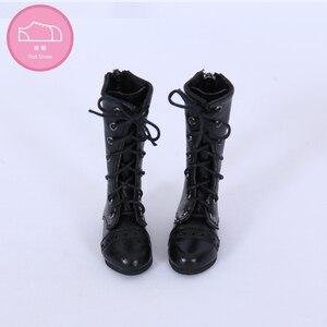 Image 3 - Buty dla lalki BJD 1 para 6.5cm PU skórzane buty moda Mini zabawka koronki brezentowych butów 1/4 lalki dla Fairyland Luts lalki akcesoria
