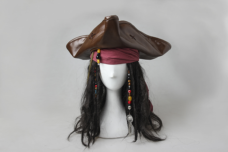 Pirates of the Caribbean Captain Jack Sparrow Cosplay Headwear Hat headband Headpiece Halloween Costume Accessories kids halloween costumes cosplay caribbean pirates costumes captain jack children role playing children party clothes
