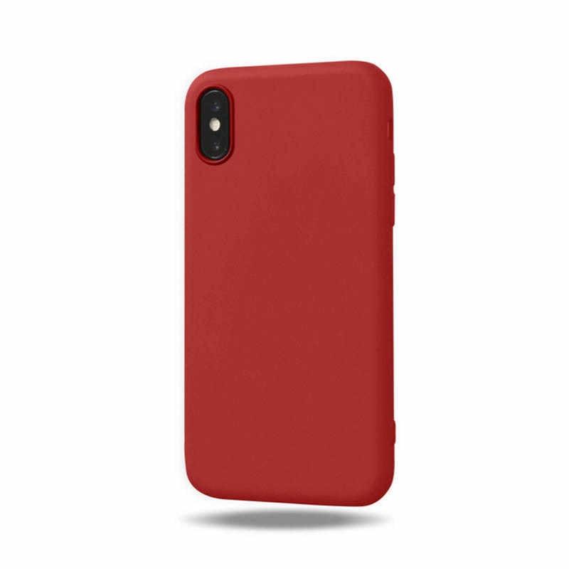 Оригинальный Мягкий силиконовый чехол для iPhone 6 S 6 S 7 8 Plus 5 5S X 10 XR XS Max 6 Plus 6splus 7plus конфетные антидетонационные аксессуары для телефонов