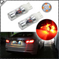(2) High Power Brilliant Red 12-SMD-2835 7443 7444 T20 LED Replacement Bulbs For Turn Signal Lights, Tail Lights, Brake Lights