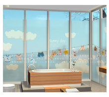 Cartoon Clothes Sock Design For Kids Room Customized Size Stained Glass  Window Film Sliding Door Static Cling