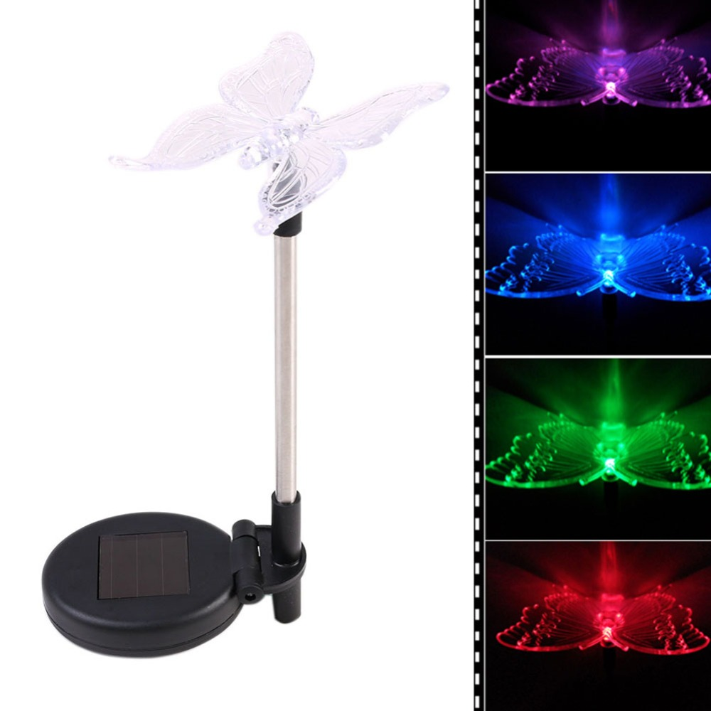 LED Solar Light Outdoor Dragonfly/Butterfly/Bird Type Solar Lamp Plastic  Outdoor LED Solar Garden Light Top Sale Garden Decor  In Solar Lamps From  Lights ...