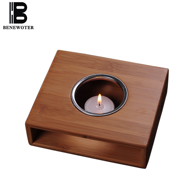Natural Bamboo Flower Tea Heating Base Tea Infusers Warm Tea Shelf Candle Stand Alcohol Lights Stove Kung Fu Tea Set Accessories ...