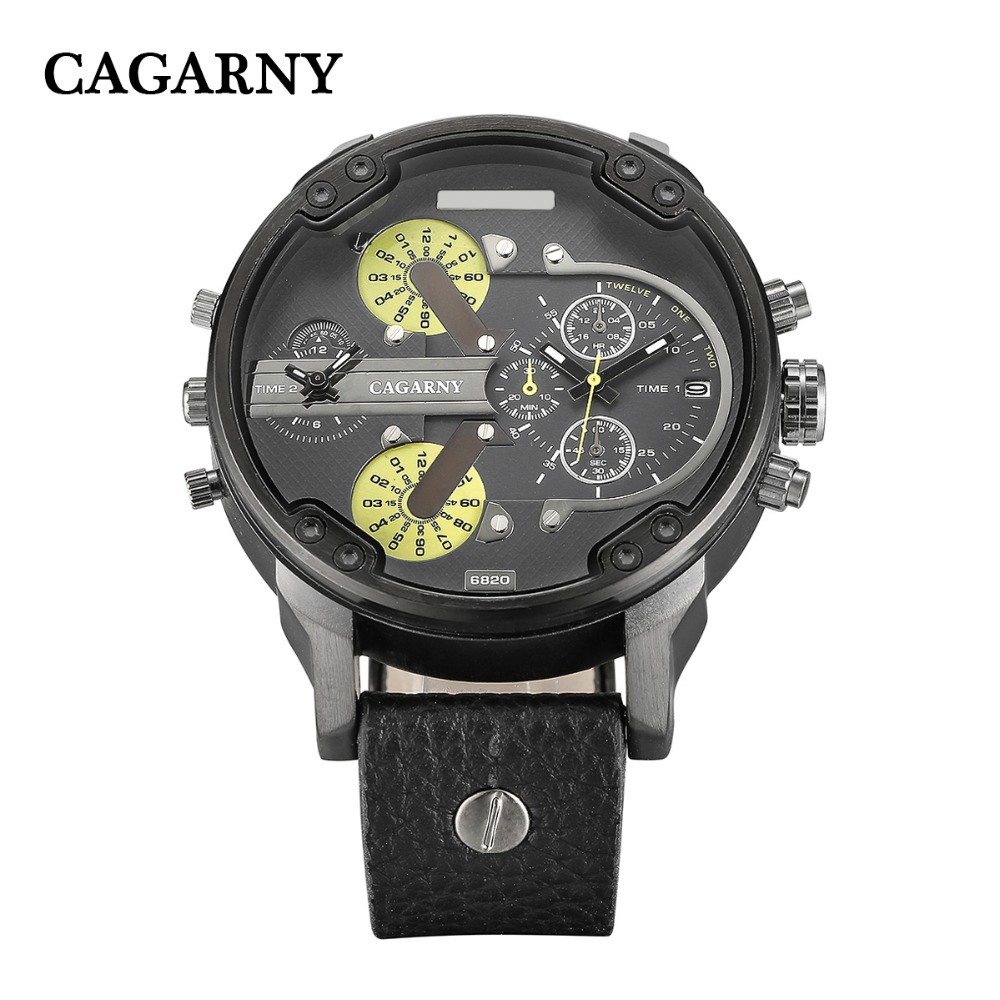 classic design dual time zones military watches for men watch drop shipping wristwatches auto date (2)
