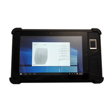"Dual System Windows 10 Android 5.1 Portable Handheld Terminal 8"" Touch screen Tablet  Fingerprint Scanner"