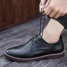 цена New Fashion 2018 Spring Autumn Casual PU Shoes Man Breathable Business Simple Light Comfortable Shoes Size 39-44 Black Yellow 2 онлайн в 2017 году