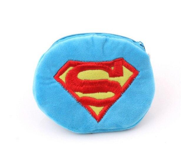 Superman Felpa Caja De Almacenamiento Caja De La Moneda Monedero De