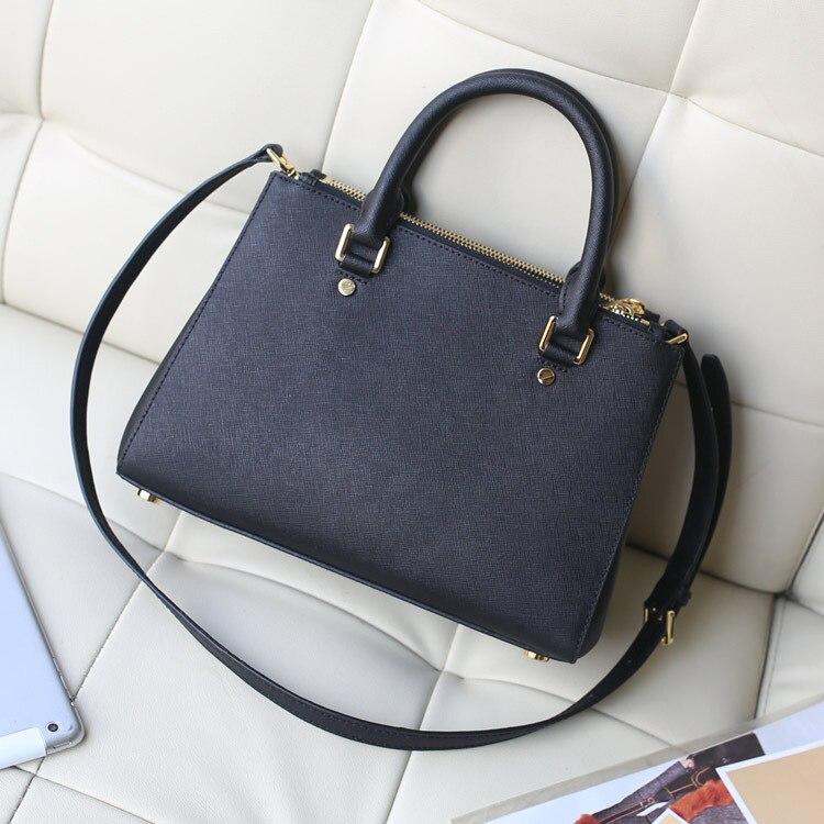 Women Handbags Ladies Fashion Shopping Bag Tote Bags for Women Top Handle Bags genuine  Leather Shoulder Bags Women-in Top-Handle Bags from Luggage & Bags    1