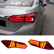 New Rear Light for Toyota Corolla 2014 led Tail Lights Altis Lamp DRL Trunk Cover Signal+Brake+Reverse Car Styling