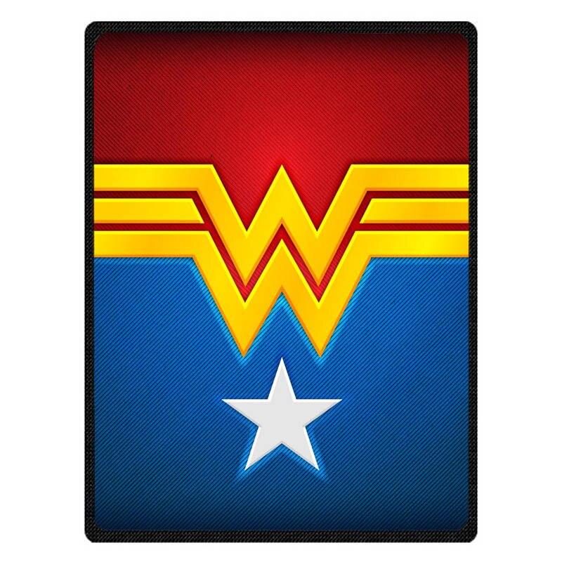 Wonder Woman Flanelle Polaire D'été Voyage Couvertures Doux Corail Climatisation Couverture de Bébé Personnalisé Drap