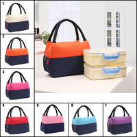 Coofit Insulated Lunch Bag For Women Female Fashionable Canvas Food Picnic Lunch Box Tote For Kid