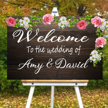Personalised Bride And Groom Name Sticker Welcome To Our Wedding Quote Decal Vinyl Sign Mirror Art Decor Wallpaper WE13