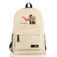 New Code Geass Backpack Anime Fashion Women Men Canvas Laptop School Bag Travel Shoulders Bags