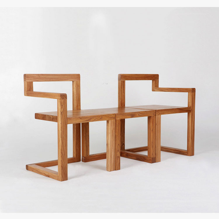 Kid Cafe Furniture: Minimalist / Modern Cafe Tearoom Old Elm Wood Furniture