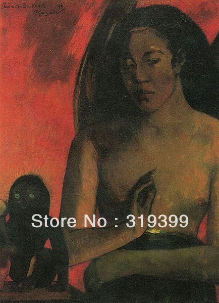Ölgemälde Reproduktion auf leinwand, Barbar Gedichte durch paul gauguin,100% handgemacht, Freies Schnelles Schiff, museum Qualität