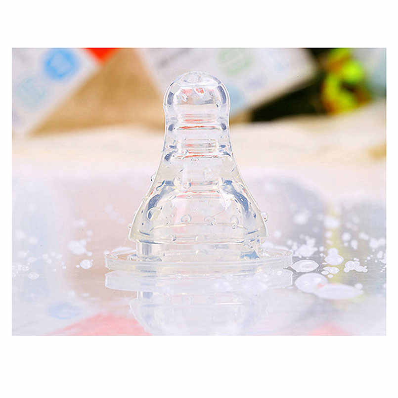 1PC Natural Flexible Transparent Silicone Pacifiers Baby Infant 4 Standard Size Feeding Milk Water Bottle Accessories Nipples