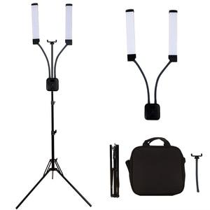 Image 2 - GSKAIWEN 40W LED Photographic Light Dimmable 3000 6000K Makeup Beauty Light Eyebrow Tattoo Lamp  Studio Video Light with Tripod