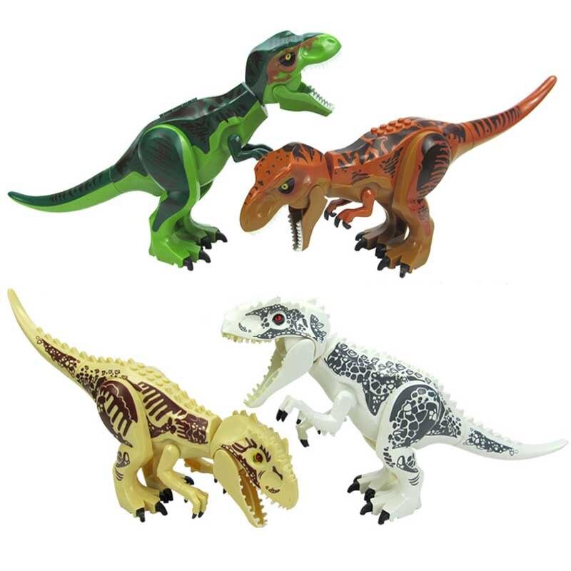Original Jurassic World Park Tyrannosaurus Building Blocks Dinosaur Model Super Heroes Figures Bricks Toys Compatible Legoings