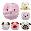 2 Peças-6 projetos/Animal Dos Desenhos Animados algodão impermeável calças de treinamento potty/3 camadas com orelhas/Algodão cuecas das crianças