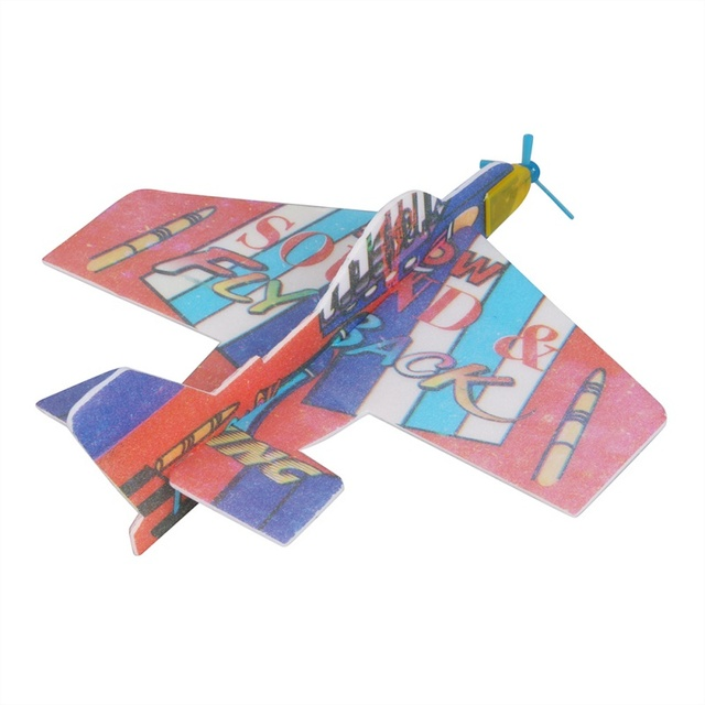 Boy's Gift DIY Assembly Flapping Wing Flight For Children Flying Kite Paper Airplane Model Imitate Birds Aircraft Kids Toys Y