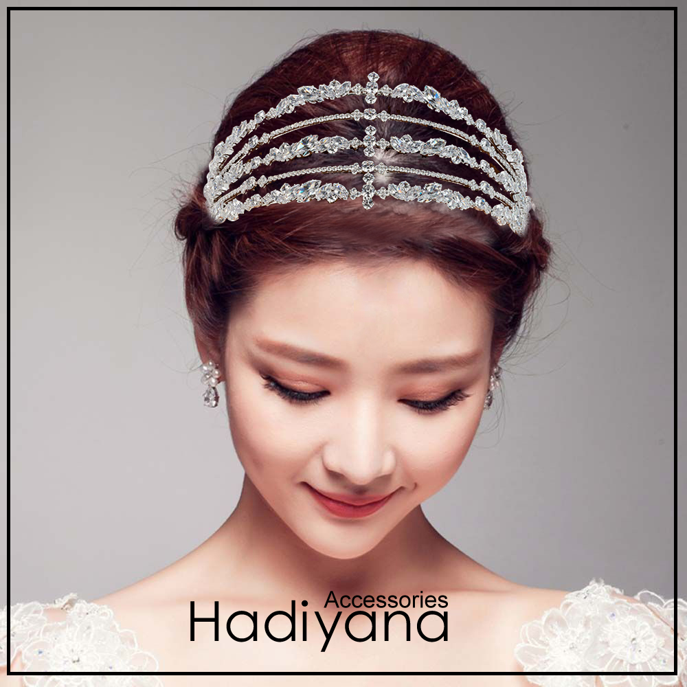 Hadiyana Luxury Silver Cubic Zirconia Wedding Tiara Crown Bride Hair Accessories Tiaras High Quality Princess Crown Party BC4721Hadiyana Luxury Silver Cubic Zirconia Wedding Tiara Crown Bride Hair Accessories Tiaras High Quality Princess Crown Party BC4721