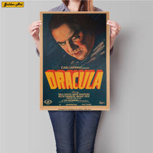 Famoso Film DRACULA vintage kraft paper poster retrò stampa immagine bar cafe wall sticker 45.5x31.5 cm(China)