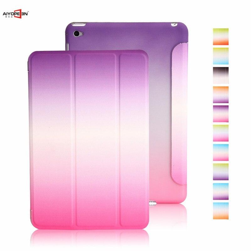 Case for iPad Mini 4 Case aiyopeen PU Leather plastic hard Back Trifold Stand Auto Sleep/Wake up Smart Cover for iPad Mini4 стоимость