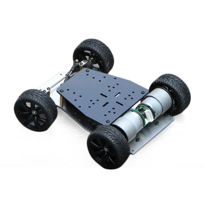 Elecrow DIY Smart Car For Arduino Robot Education Smart Car Encoder Chassis Front wheel Steering Gear Steering Dual Motor Drive
