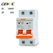 2018 dc solar breaker circuit controller 2P 1000V 25A miniature circuit breaker for global solar photovoltaic power generation(China)