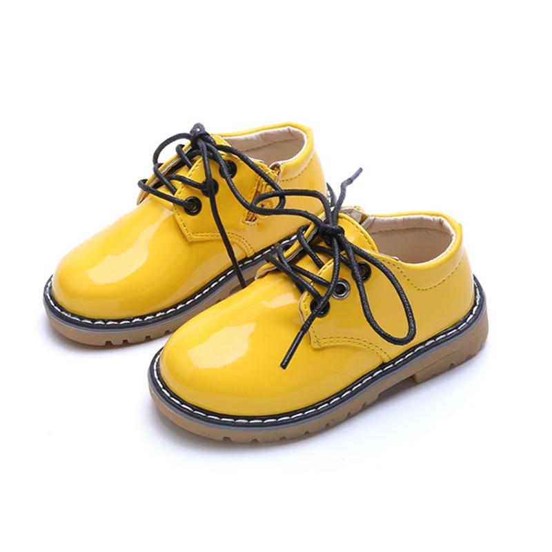 Дитяче взуття 2019 Весна мода Плоска шкіра дівчаток хлопчики взуття з боку Zip малюк дитини м'які водонепроникний дітей повсякденне взуття
