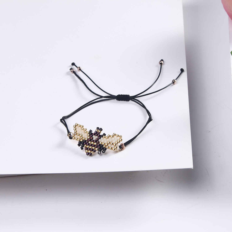 Vert bohème ethnique turc bleu yeux tissé Bracelet pour femmes perles corde chaîne réglable bijoux pour femmes cadeaux de fête