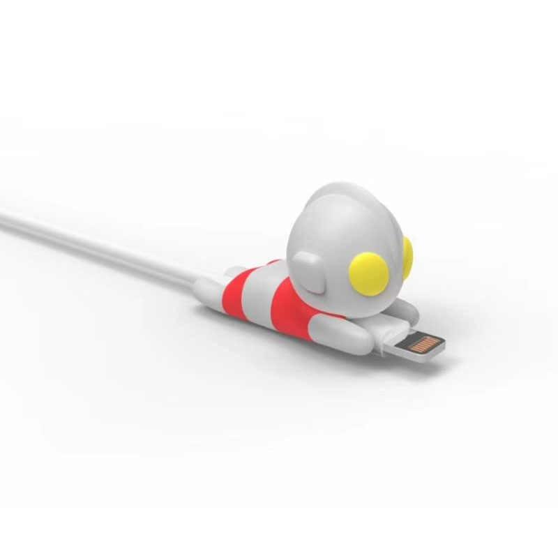 Dropshipping 1 pçs cabo mordida protetor para para iphone cabo dobadoura telefone titular acessório chompers herói modelo engraçado